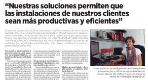 Artículo de prensa. Entrevista Fátima Léndez Directora Gerente